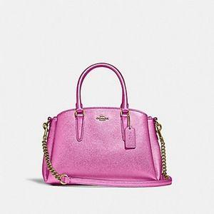 Coach Mini Sage Carryall Metallic Magenta Pink